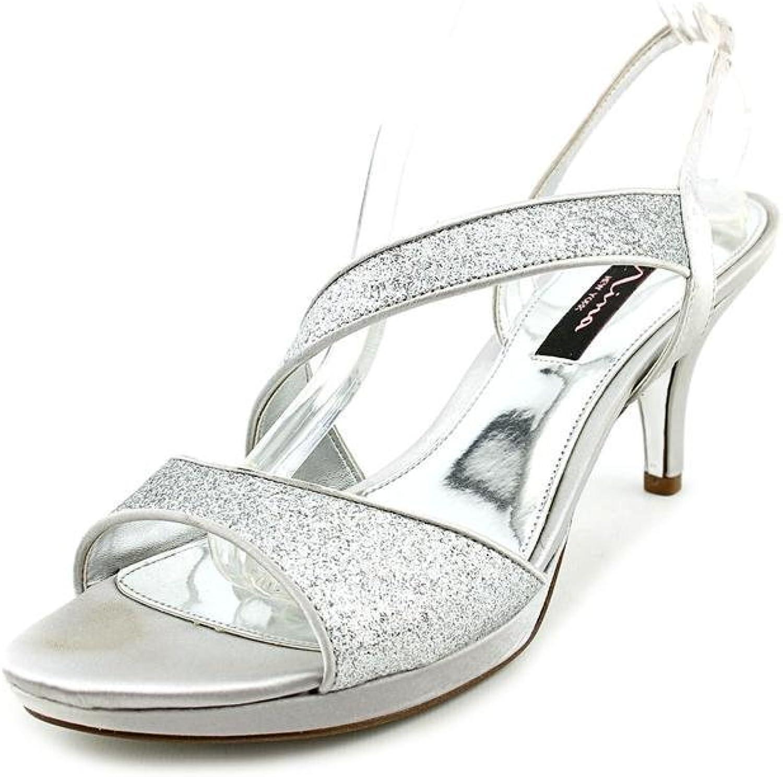 Nina Newark Damen US US US 7 Silber Sandale  afc909