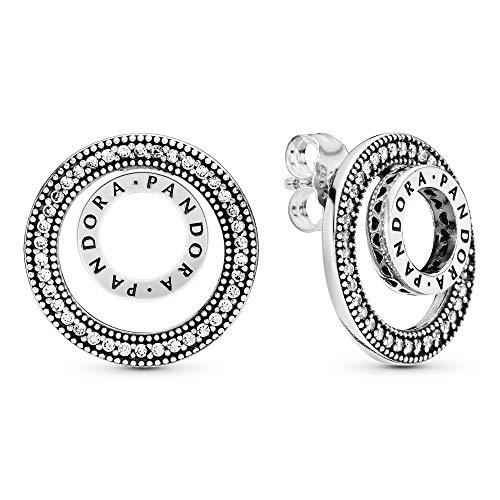 Pandora Pendientes de botón Mujer plata - 297446CZ