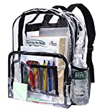 Bags for Less Heavy Duty Clear Backpacks Stadium Approved Transparent Bag