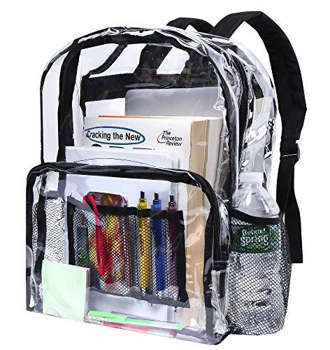 Clear School Breifcase e viaggi Bookbag use for Staduims e sicurezza (grande)