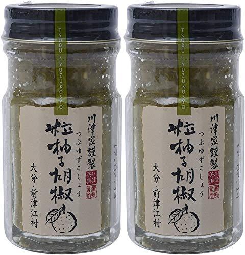 【2個セット】川津食品 川津家謹製 粒柚子胡椒 青 60g × 2