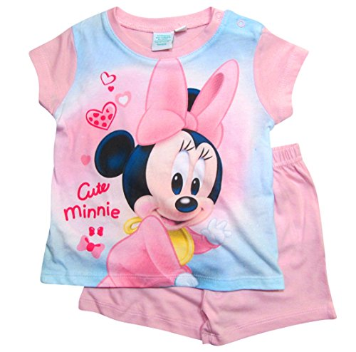 Minnie Mouse Minnie Mouse Kollektion 2018 Schlafanzug 68 74 80 86 92 Mädchen Shorty Pyjama Shortie Disney Maus (Zartrosa, 68-74)