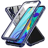 LeYi Compatible with Samsung A20 Case, Samsung Galaxy A20 Case Built-in Screen Protector, 360 Full-Body Protective Dual Layer Shockproof Anti-Scratch Slim Clear Phone Case Cover for Samsung A20, Blue