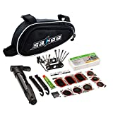 CLISPEED 1 Set Mini Kit de Parche de Bomba de Bicicleta Bicicleta Ciclismo Herramienta de Reparación Mecánica para Carretera Montaña BMX