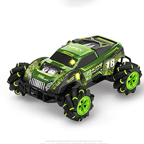 XIAOKUKU Coche RC Control Remoto inalámbrico, Todoterreno 360 ° Drift Control Remoto Juguete 4WD 2.4G Inducción de Gestos Coche de Carreras Todoterreno con luz y música,Verde
