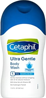 Cetaphil Fragrance Free Ultra Gentle Body Wash, 11.8 Ounce