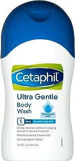 Cetaphil Fragrance Free Ultra Gentle Body Wash, 11.8 Fl Oz (Pack of 1)
