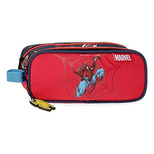 Estuche Spiderman Pop Dos Compartimentos