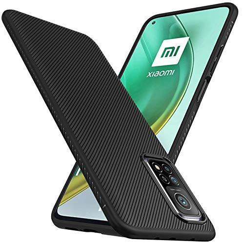 Toppix Funda compatible con Xiaomi MI 10T / MI 10T Pro, carcasa de silicona TPU mate, ultrafina, color negro