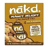 LOTUS Nakd Cacahuètes Peanut Delight Barres de Cacahuètes/Fruits Ingrédients 100% Naturels sans...