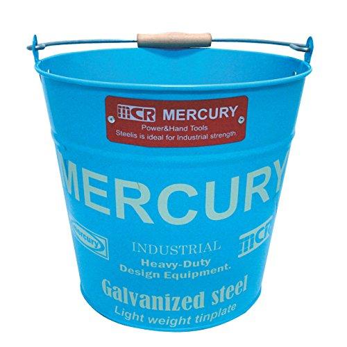 MERCURY マーキュリー バケツ Bucket 6カラー ブリキ アメリカン雑貨 インポート オブジェ インテリア おしゃれ部屋 onesize,1/青 (Blue)