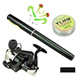 MultiOutools Pen Fishing Pole 38 Inch Mini Pocket Fishing Rod and Reel Combos Travel Fishing Rod Set...