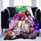 Techsource Space Jam Throw Blanket,Bedsure Blanket Throw Extra Soft 3D Fashion Print Perfect for Couch Bed Sofa All Season 50'X40'