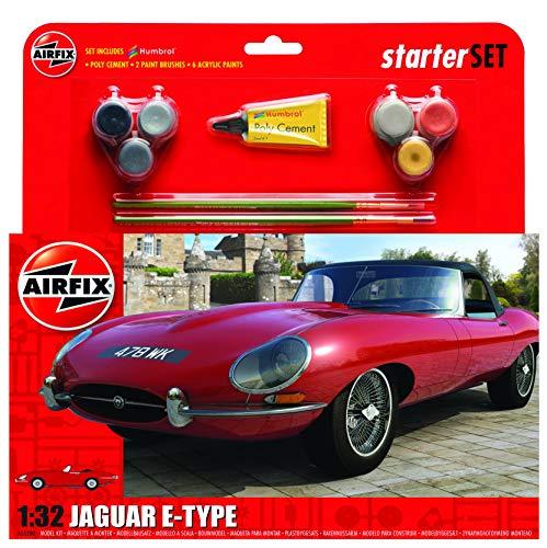 Airfix A55200 1/32 Medium Starter Set, Jaguar E-Type Modellbausatz