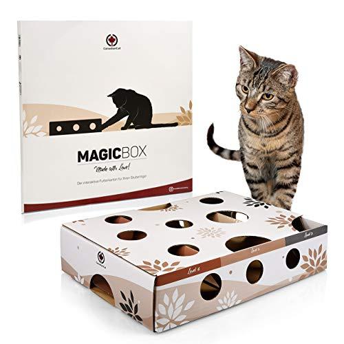 CanadianCat Company ® | Katzenspielzeug MagicBox | 40 x 30 x 9,5 cm | Activitybox Intelligenzspielzeug Futterspiel Fummelbrett