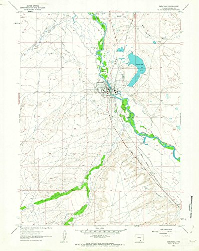 1961 Saratoga, WY - Wyoming - USGS Historical Topographic Map : 24in x 30in