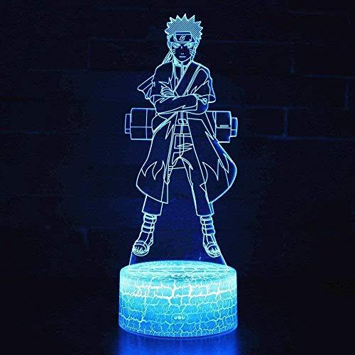 Luz LED 3D de estado de ánimo, luz nocturna de Naruto para habitación infantil, lámpara de mesa, el mejor regalo para Navidad y cumpleaños con mando a distancia
