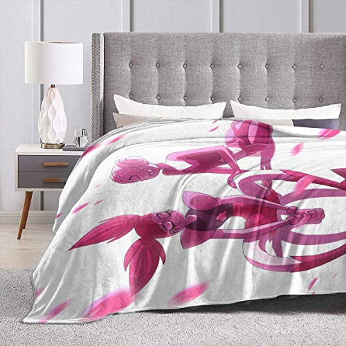 Engshi Mantas para Cama Pink Steven Universe Spinel Throw Blankets Microfiber Bedspreads Fleece Blankets Throw Ultra Soft Coral Bedcover for Bedroom Living Room Sofa Couch