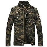 Mens Camouflage Bomber Jackets Army Military Camo Jacket Flight Pilot Coat