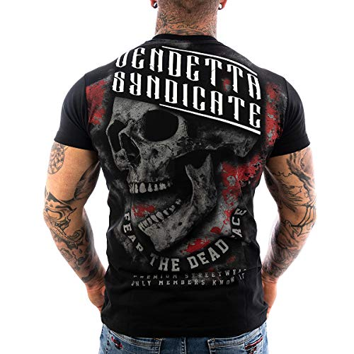 Vendetta Inc. Herren Shirt Skull Dead Face schwarz VD-1084 (M)