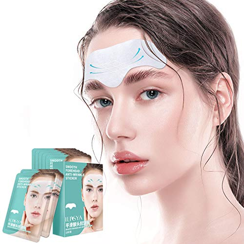 Forehead Wrinkle Patches,Facial Wrinkle Patches,Anti-Wrinkle Pads,Smoothing Forehead Wrinkle Stickers,Forehead Lines Age Lines Resistant Masks,Wrinkle Remover Strips for Women and Men,10 PCS
