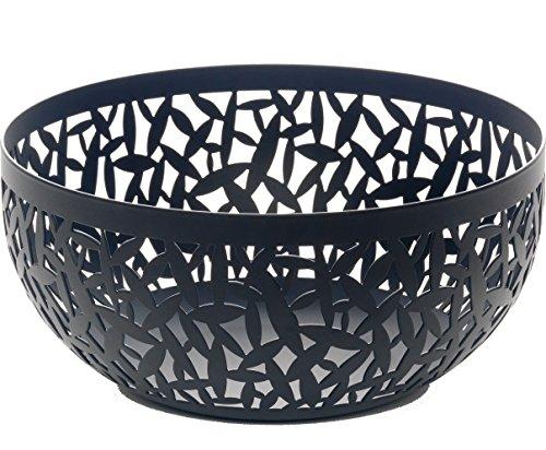 Alessi Cactus MSA04/21 B Design Obstschale, durchbrochen, aus Stahl, epoxidharzlackiert, schwarz