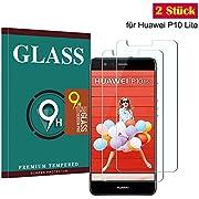 Huawei P10 Lite Panzerglas Schutzfolie, Hohe Qualität Gehärteter Displayschutzfolie [2 Stück] [Anti Fingerabdruck] [Anti-Kratzen] [Blasenfrei] Gehärtetem Glass Displayschutzfolie für Huawei P10 Lite
