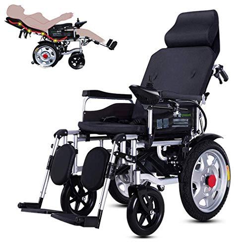 DONG Elektro-Rollstuhl Folding Motorisierte Elektro-Rollstühle, verstellbare Rückenlehne und Pedal, 20Ah Lithium-Batterie inklusive, Dual-Motor Elektro-Rollstuhl