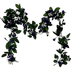 6ft Mini Rose Garland Wedding Arch Swag Backdrop Artificial Fake Silk Flowers Purple