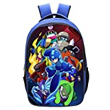 Qushy Megaman Mega Man Backpack Daypack Schoolbag Bookbag Blue Bag Type (E)