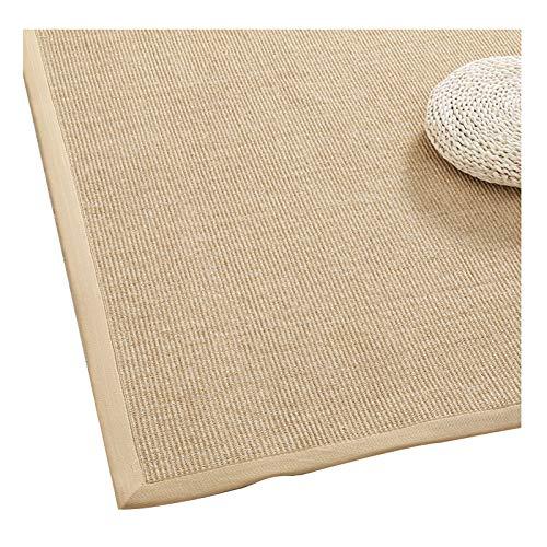 Sisal Area Rug, Braided Foldable Non-slip Edging Japanese Mat, Bedroom Living Room Entry Carpets, 10 Mm, 9 Sizes (Color : B, Size : 80x120cm)