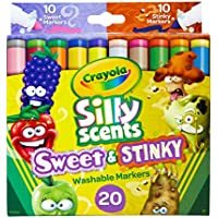 20-Count Crayola Silly Scents Sweet & Stinky Scented Markers