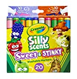 Crayola Silly Scents Sweet & Stinky Scented Markers, 20Count, Washable Markers, Gift for Kids, Age 3, 4, 5, 6