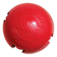 Patented durable KONG Red Rubber toy that has four bone-shaped stuffable holes to extend playtime Increase the challenge by stuffing the ball in multiple locations with KONG Easy Treat and Snacks Made in the USA. Globally Sourced Materials. Available...