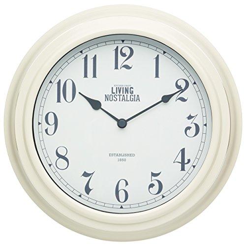 Kitchen Craft 25,5 cm, Living Nostalgia innen Wall Clock, Antique Cream