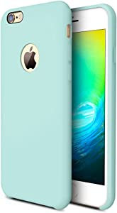 TORRAS [Love Series iPhone 6S Case/iPhone 6 Case, Liquid Silicone Rubber Shockproof Case with Soft Microfiber Cloth Cushion Compatible with iPhone 6 / 6S, Mint