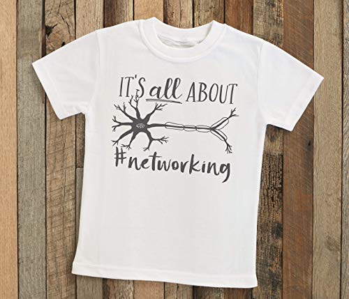 Networking Neuron Kids Shirt - Nerdy Cute Science Neurology Neuroscience Doctor Physician Geek STEM Kids Tee