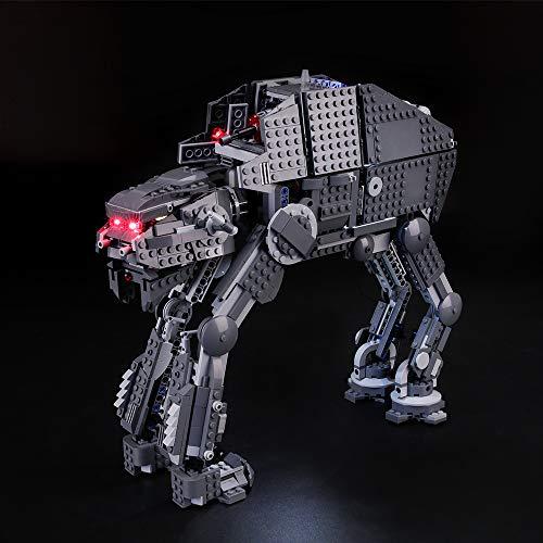 BRIKSMAX Kit de Iluminación Led para Lego Star Wars Episode VIII First Order Assault Walker,Compatible con Ladrillos de Construcción Lego Modelo 75189, Juego de Legos no Incluido