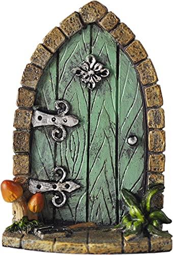 Décoration miniature originale et sympa en forme de porte de lutins / fée / elfes pour arbre de jardin ou maison, hauteur 9 cm