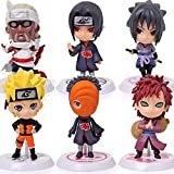 Naruto Cake Topper Anime 6 Styles Action Figure Ninja Model Toy Naruto Cake Decorations