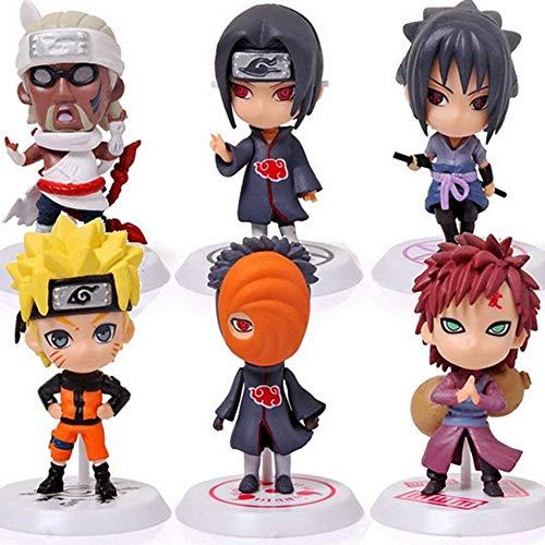 Naruto Cake Topper Anime 6 Styles Action Figure Ninja Model Toy Naruto Cake Decorations