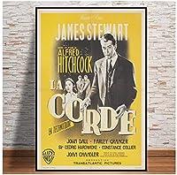 ロープ1950フランス映画ポスタークラシックヴィンテージレトロキャンバスプリントアートポスター壁画家の装飾(60X90Cm)-24x36インチフレームなし