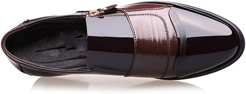 ZHRUI Mens Dress shoes Black Men Oxford shoes Lace Up Casual Business Males shoes Men Wedding shoes (color   Brown B, Size   9.5=43 EU)