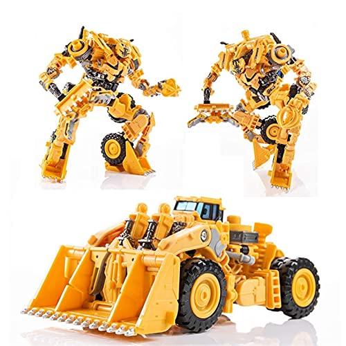 QIXIAOCYB Robot Car, Forma de deformación de servicio pesado Juguetes de deformación King Kong Modelo Ingeniería Vehículos de ingeniería de automóviles para niños Coche Modelo Modelo de regalo Niño Ju