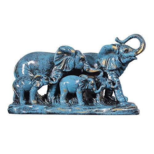 Estatuas decoración para el hogar Decoración elefante Estatuas elefante para el hogar creativas Elefante 1 par manualidades Sala estar Gabinete vino Moderno Feng Shui Elefante Estatua coleccionable