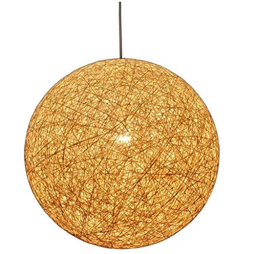 YUTRD ZCJUX El cáñamo Tejida Cuerda Pantalla esférica lámparas de araña, de restaurantes y hoteles Vestíbulo Ingeniería Redondo Decorativo Lámparas