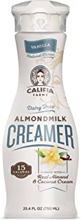 Califia Farms Vanilla Almondmilk Coffee Creamer with Coconut Cream, 25.4 Oz (Pack of 6) | Dairy Free | Plant Based | Nut M...