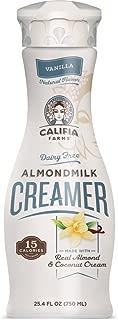 Califia Farms Vanilla Almondmilk Coffee Creamer with Coconut Cream, 25.4 Oz (Pack of 6) | Dairy Free | Plant Based | Nut Milk | Vegan | Non-GMO