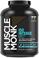 MuscleMonk ISO Intense MEC® 100% Whey Isolate Protein with Digestive Enzymes | Creamy Vanilla - 1kg