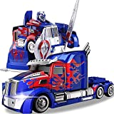 YAMMY 1:12 Truck Deformation Opttimus Prime RC Toy Transforming Robot Remote Control360 Speed Drifting Semi-Truck Robot Toy 1 (Coche RC)